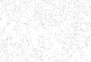 Схема из 25 цветов (Сложная)