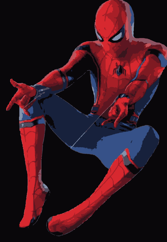 Скачать схему Человек-паук по номерам